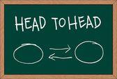 """head to head"" — Stock Vector"