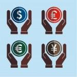 Money on hands — Stock Vector #45546641