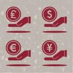 Money on hands — Stock Vector #45546695