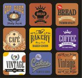 Bakery labels and typography — Stock Vector