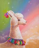 Colorful llama — Foto de Stock