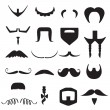 Stock Vector: Vector hipster mustache and beard shapes
