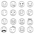 Vector  cartoon smile icons — Imagen vectorial