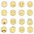 Collection of cartoon smiles — Imagen vectorial