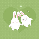 Illustration Bunnies in love — Photo