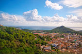 View over the city of Arta, Mallorca Balearic islands — Stock Photo