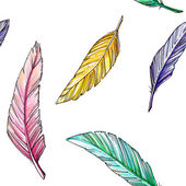 Drawing pattern of colorful feathers — Photo