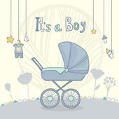 Baby shower it's a boy. Vector illustration card — Stock Vector