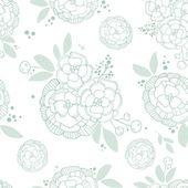 Vintage romantic seamless floral pattern — Vecteur