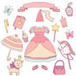 My little princess set. — Stock Vector #50080005