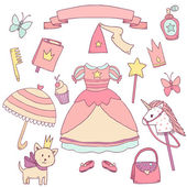 My little princess set. — Stock Vector