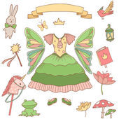 My little fairy princess set. — Stock Vector