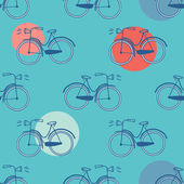 Seamless pattern with bicycles — Stock Vector
