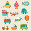 Transportation icons collection — Stock Vector #51288017