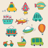 Transportation icons collection — Stock Vector