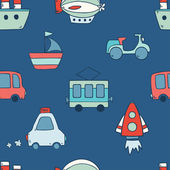 Pattern with transportation icons — Stock Vector