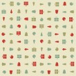 Vector christmas pattern. Colorfuly xmas seamles texture. — Stock Vector #35598011