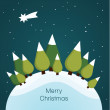 Vector Christmas landscape. Nice illustration for Christmas. — Stock Vector