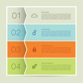 Vector abstract mosaic background. Infographic template with pla — Stockvektor
