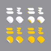 Realistic vector stickers - yellow collection. Modern design, bl — Vecteur