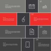 Vector modern design template. Clean presentation with place for — Stok Vektör