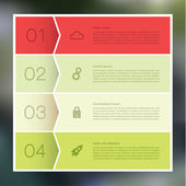 Vector abstract mosaic background. Infographic template with pla — Stock Vector