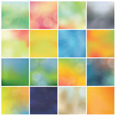 Vector blurred backgrounds - huge pack. Trendy colorfully - boke — Vector de stock