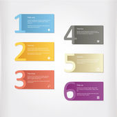 Vector - six colorfully cards with place for your content. — Stock Vector