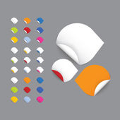 Realistic vector stickers - arrows. Colorfully blank rolled stic — Stock Vector
