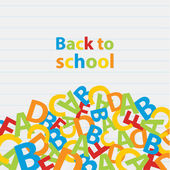 Vector back to school background. Paper grade composition. — Vecteur
