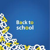 Vector back to school background. Paper grade composition. — Stock Vector
