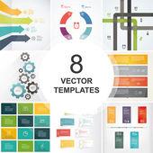 Bundle of vector templates. — Stock Vector