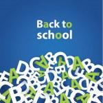 Vector back to school background. Paper grade composition. — Stock Vector #50315729