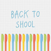 Vector back to school illustration. — Stock Vector