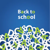 Vector back to school background. Paper grade composition. — Vettoriale Stock