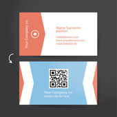 Template for solid business card. Minimalistic flat design for p — Stock Vector
