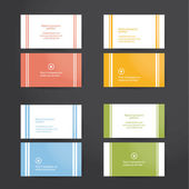 Pack of minimal business cards. — Stock Vector