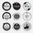 Set of retro vintage logo badges with grunge — Stock Vector