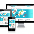 Responsive Website Design — Stockvektor