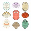Vintage labels vector set — Imagen vectorial