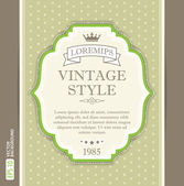 Vintage card with frame — Stock Vector
