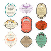 Vintage labels vector set — Stock Vector