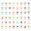 Stock Vector: SEO and Development icon sets