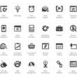 Seo and development icon sets — Stockvector