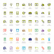 Постер, плакат: Seo and development icon sets