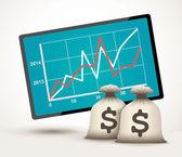 Statistics concept — Stock Vector
