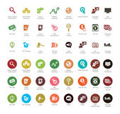 SEO and Development icons — Stock Vector