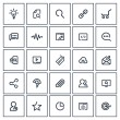 Outlines SEO Icon Set — Stock Vector