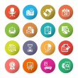 Media and office icons set — Stock Vector