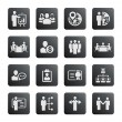 Business management and human resource icons — Stock Vector #36143349